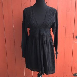 Free People Boho Festival Long Sleeve Dress Small